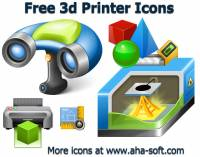 Free 3d Printer Icon Set screenshot