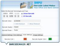 Barcode Maker Software for Post Office screenshot
