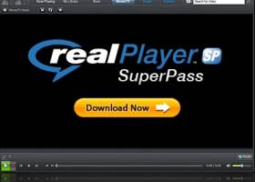 Click to view RealPlayer SP 1.1.5 screenshot