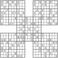 image about Printable Samuri Sudoku identified as samurai sudoku for little ones for Home windows 7 - 100 printable