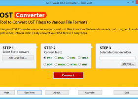 OST File Converter screenshot