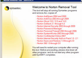 Norton Removal Tool 2011 screenshot