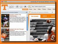 Tennessee Vols IE Browser Theme screenshot