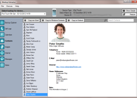 iBackup Extractor screenshot