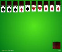 spider solitaire, 4 suit screenshot