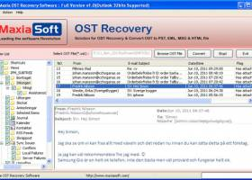OST PST Recovery screenshot