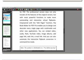 PDF to Flash Brochure Pro screenshot