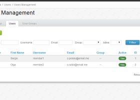 Users Module for Directy CMF screenshot