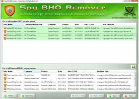 Spy BHO Remover screenshot