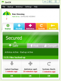 ZenOK Free Antivirus 2010 screenshot