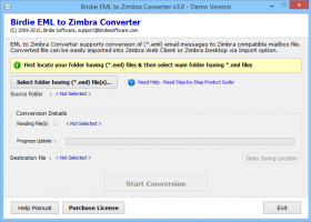 Free EML File to Zimbra Import screenshot