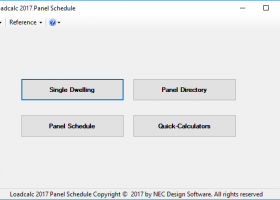 Loadcalc 2017 Panel Schedule Trial screenshot