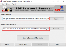 Remove PDF Password Protection screenshot