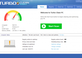 Turbo Clean PC Optimizer for Windows 7 - Designed to crank up your