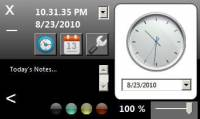 Opaloflux Clock and Calendar Application screenshot