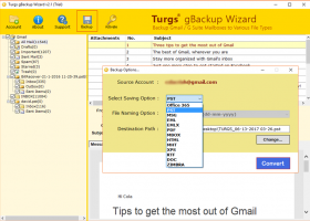 Gmail Backup to EMLX screenshot
