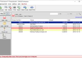 ChequeSystem Cheque Printing Software screenshot