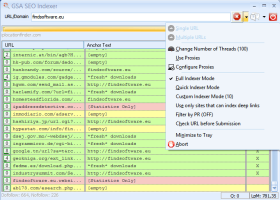 GSA SEO Indexer screenshot