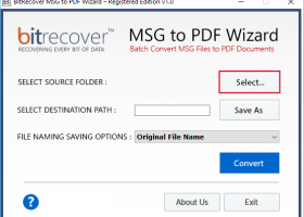 Save Outlook Message as PDF File screenshot