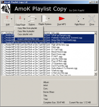 AmoK Playlist Copy screenshot