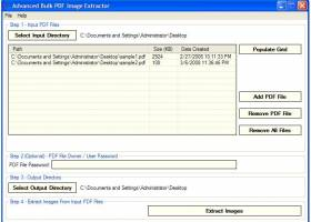 Advanced Bulk PDF Image Extractor screenshot