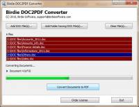 Batch DOC to PDF Converter screenshot