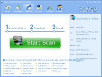 Compaq Drivers Download Utility screenshot