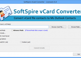 Import vCard contact to Outlook format screenshot