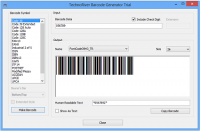 TechnoRiver Barcode Font screenshot
