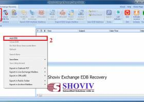 EDB to PST Mail Recovery screenshot