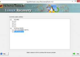 Linux Data Recovery screenshot