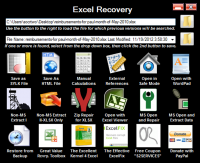 S2 Services Excel Recovery screenshot