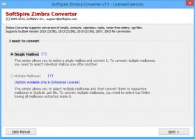 Zimbra Emails to Outlook screenshot