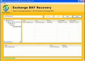 Exchange BKF Recovery screenshot