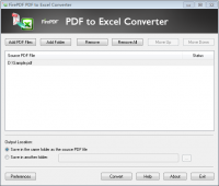 FirePDF PDF to Excel Converter screenshot