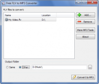 Free FLV to MP3 Converter screenshot