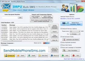 Blackberry Mobile Phone SMS Software screenshot