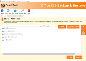 CubexSoft Office 365 Backup screenshot