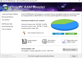 Chris-PC RAM Booster screenshot