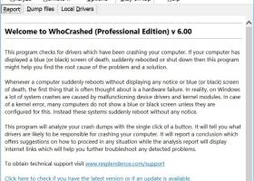 WhoCrashed screenshot