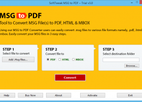 Convert MSG files to PDF with Attachments screenshot