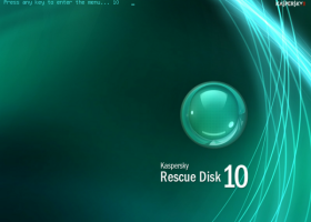 Kaspersky Rescue Disk screenshot