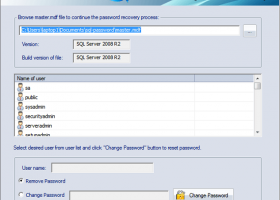 SQL Password Recovery Tool screenshot