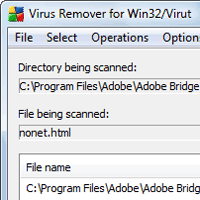 Win32/Virut Remover screenshot