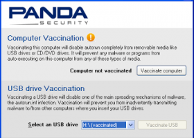 Panda USB Vaccine screenshot