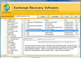 Exchange EDB Converter Program screenshot