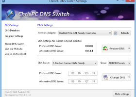 ChrisPC DNS Switch screenshot