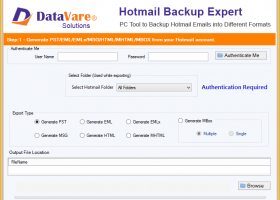 DataVare Hotmail Backup Expert screenshot