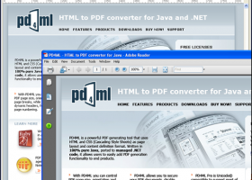 PD4ML. HTML to PDF converter for Java screenshot