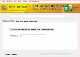 XLSX File Password Recovery Software screenshot